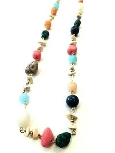La Bella Donna - κολιε μακρυ φο με πολυχρωμες πετρες Beaded Necklace, Beaded Bracelets, Necklaces, Jewelry, Fashion, Beaded Collar, Moda, Jewlery, Pearl Necklace