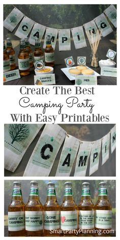 Easy to use camping party printable's that will he…