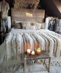 Bohemian bedroom decor - An array of color and prints, varying textures, billowing fabrics and layers of worldly decor, boho style is one of the most fun to create from the ring up If youre looking into addition some funky n Bohemian Bedroom Decor, Home Decor Bedroom, Bedroom Ideas, Bedroom Furniture, Bohemian Room, Bed Ideas, Moroccan Bedroom Decor, Junk Gypsy Bedroom, Nature Bedroom