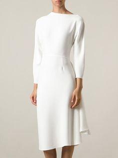 Valentino Asymmetric Draped Dress - Tessabit - Farfetch.com