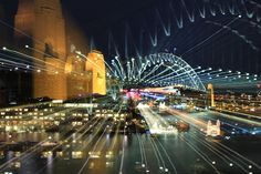 Sydney Harbour Bridge at night playing with the focus by Eat.Drink.See.Do., via Flickr