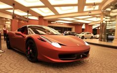 Gorgeous matte red Ferrari 458 Italia