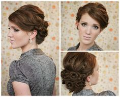 The Freckled Fox : Holiday Hair Week - Tutorial #3: Kate Inspired Updo