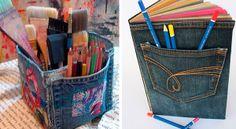 Reciclagem de Jeans | Artesanato na Rede