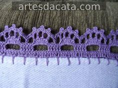 SAM_0387 Crochet Edging Patterns, Crochet Lace Edging, Crochet Borders, Crochet Trim, Filet Crochet, Crochet Doilies, Crochet Stitches, Knit Crochet, Crochet Towel
