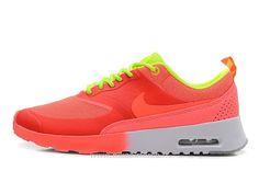 Nike Air Max Thea Pas Cher Femme Salmon Rouge/Volt Air Max Thea Femme Bleu