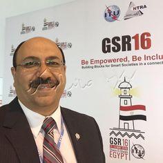 لقاء د/ شريف هاشم نائب رئيس الجهاز القومى لتنظيم الاتصالات لشئون الأمن السيبرانى فى GSR16 Global Symposium for Regulators 2016 (GSR16), Sharm el-Sheikh, Egypt, 11 -14 May 2016. مرتبط