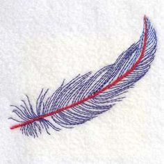 This free embroidery design is a feather.  Enjoy it.  It's free today from Designs by Sick.