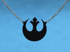 Rebel Alliance necklace | scroll saw cutting, material: HIPS polystyrene | May the force be with you. ;)