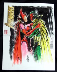 Scarlet Witch and Vision   men scarlet witch colouring pages (page 2)