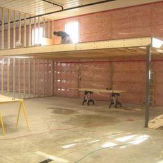 Metal building homes floor plans with garage and Metal buildings kits. Pole Barn Garage, Garage Loft, Garage Shop, Garage House, Dream Garage, Small Garage, Loft Storage, Diy Garage Storage, Garage Organization