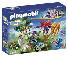 PLAYMOBIL Super 4 Lost Island with Alien and Raptor**