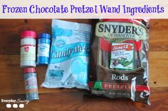Disney Frozen Themes Food - Blue Chocolate Pretzel Wands
