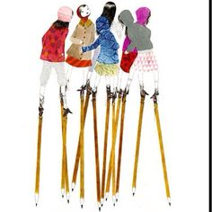 Pencil stilts!