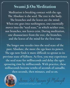 Swami Adi Narayan Ji Maharajh on Meditation | #SwamiAdiNarayan #meditation #sadhana #meditationquotes Meditation Quotes, Spiritual Teachers, Spirituality, Mindfulness, Wisdom, Inspirational, Words, Spiritual, Inspiration