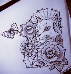 Kitty By Nataliarey On De #Best tattoos#Amazing tattoos!!!#