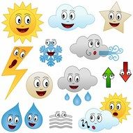 Collection of twelve funny cartoon weather character , Weather For Kids, Weather Calendar, School Organisation, Boarder Designs, Weather Seasons, Kindergarten Math Worksheets, Book Activities, Clip Art, Kids Rugs