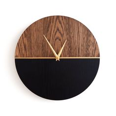 Modern Wood Wall Clock Wall Clock Wood Clock Home Decor Wood Decor Gift Idea Ready to Ship Childrens room Hanging Clock, Diy Clock, Clock Decor, Diy Wall Decor, Clock Ideas, Boho Decor, Bedroom Decor, Wall Clock Wooden, Wood Clocks