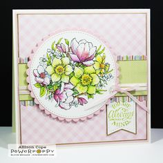"""Your Memories with Ally: Switch Up Your Shades! ~ Featuring the digital stamp """"Magnolia Sunshine"""" from Power Poppy. #powerpoppy"""