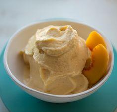 Ginger-Peach Banana Ice Cream