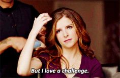 """And decides she might not be """"beer commercial hot,"""" but doesn't care because she loves a challenge. 
