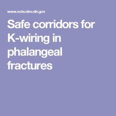 Safe corridors k wires phalyngeal #