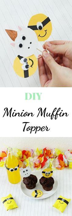 Du bist ein echter Minion Fan und planst demnächst eine Party? Wie wäre es mit einer Minion Party? Auf riamarleen.de findest du die Anleitung zu diesen coolen Minion Muffin Topper. Außerdem gibt es ein Video mit weiteren Minion Party DIY Ideen.