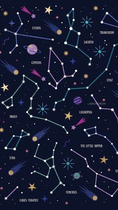 Constellations Wallpaper Phone – Night Sky Stars – Zodiac Signs – Astrological Signs – My Pin Page Planets Wallpaper, Wallpaper Space, Tumblr Wallpaper, Galaxy Wallpaper, Aesthetic Iphone Wallpaper, Screen Wallpaper, Cool Wallpaper, Aesthetic Wallpapers, Aztec Wallpaper