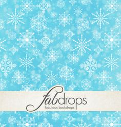 Fab Drops Frozen Snow Flakes Photography Backdrop  *** Backdrop Coupon *** http://www.fabbackdrops.com/photography-backdrop-coupons/