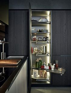 best kitchen pantry cabinet Small Kitchen Cabinet Design, Kitchen Pantry Cabinets, Big Kitchen, Kitchen Units, Wooden Kitchen, Kitchen Storage, Kitchen Decor, Decorating Kitchen, Kitchen Utensils