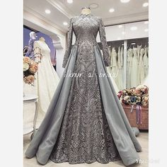 This Pin was discovered by Ama Muslimah Wedding Dress, Muslim Wedding Dresses, Muslim Dress, Pakistani Dresses, Bridal Dresses, Prom Dresses, Abaya Mode, Mode Hijab, Hijab Dress Party