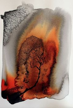 Abstract Watercolor Art, Watercolor Landscape, Watercolor And Ink, Abstract Landscape, Landscape Paintings, Watercolor Paintings, Alcohol Ink Art, Abstract Photography, Art Plastique