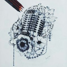 Microphone tattoo. Just because I love singing and music so much.                                                                                                                                                                                 More