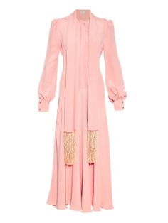 Bell-sleeve silk gown | Hillier Bartley | MATCHESFASHION.COM US