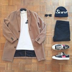 Another Amazing Outfit Latest Mens Fashion, Urban Fashion, Love Fashion, Winter Outfits, Cool Outfits, Casual Outfits, Fashion Outfits, Outfits With Converse, Cdg Converse