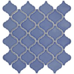 I really like this shape, just worried about the color. SomerTile 12.5x12.5-in Morocco Blue Porcelain Mosaic Tile (Pack of 10) | Overstock.com Shopping - Big Discounts on Somertile Wall Tiles
