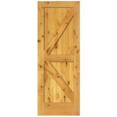 Steves U0026 Sons 2 Panel Barn Solid Core Prefinished Natural Knotty Alder Interior  Door Slab