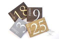 Rustic Wooden Wedding Numbers TB-39 by SweetNCCollective on Etsy