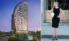 The towering 33-floor establishment,  launched by Donald Trump's daughter, is in the Nasimi District of Baku, and will boast spectacular views of the Caspian Sea and across the city.