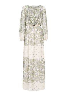 MANGO - Paisley print chiffon gown