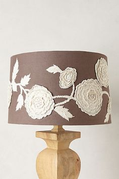 Blossom Applique Lamp Shade - anthropologie.com   small shade $128