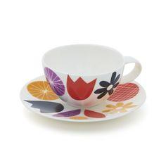 Jenny Bowers Designer Tea Cup    Crate and Barrel