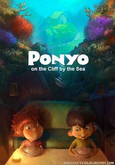 Ponyo, affiche par ZAPHK.