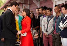 "FINCHEL! Finn says goodbye to Rachel in the ""Goodbye"" episode. Original Air Date 5/22/2012"