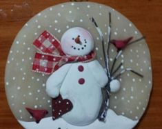 Paper heart ~ hand formed translucent round snowman ornament, personalize free by JessiesCornerClay on Etsy Snowman Crafts, Snowman Ornaments, Christmas Tree Ornaments, Holiday Crafts, Snowmen, Dough Ornaments, Glitter Ornaments, Polymer Clay Ornaments, Painted Ornaments