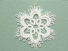 Handmade Tatting Lace Christmas Ornament Snowflake by SnappyTatter, $7.50