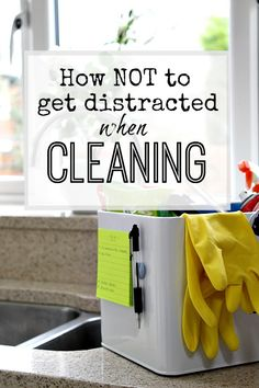 Quick tip - when doing chores / cleaning this tip helps you to stay on track even if something else crops up - avoid getting distracted