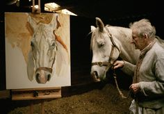 """"""" a proposito di cavalli. Lucian Freud at work. (working with Lucian Freud, D. Lucian Freud, Sigmund Freud, Artist Life, Artist Art, Francis Bacon Self Portrait, Holland, Artists And Models, Muse Art, Equine Art"""