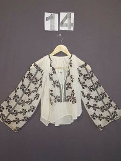 Folk Costume, Costumes, Bell Sleeves, Bell Sleeve Top, Folk Embroidery, Blouse, Handmade, Tops, Women