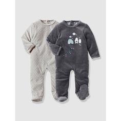 895b29be90844 lot de 2 pyjamas bébé velours VERTBAUDET Pyjama Naissance